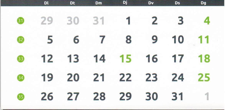 Calendario Laboral 2020.30 Virtual